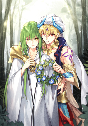 __gilgamesh_enkidu_and_gilgamesh_fate_and_2_more_drawn_by_kangetsu_fhalei__378629a98bd73121d77b7de922d54523