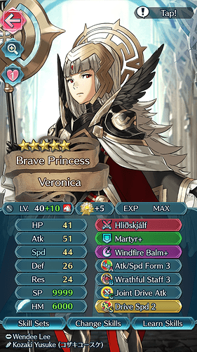 FEH Unit Builder - Veronica (Arrival of the Brave)