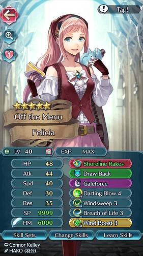 FEH Unit Builder - Felicia (A Season for Picnics)