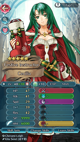 FEH Unit Builder - Cecilia (Gifts of Winter)