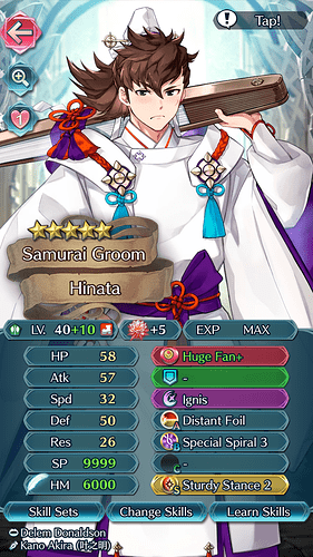 FEH Unit Builder - Hinata (Bridal Beloveds)
