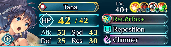 FEH Unit Builder - Tana (Summer's Arrival)