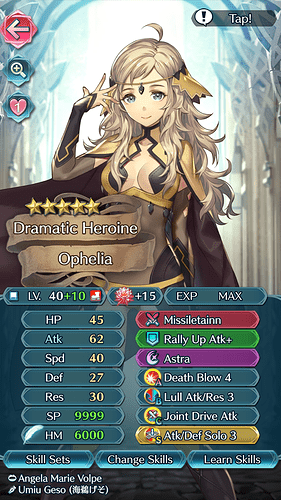 FEH Unit Builder - Ophelia