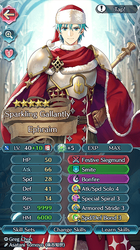 FEH Unit Builder - Ephraim (Gifts of Winter)