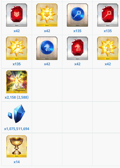 Servant planner bug, displaying incorrect QP/exp values - FGO