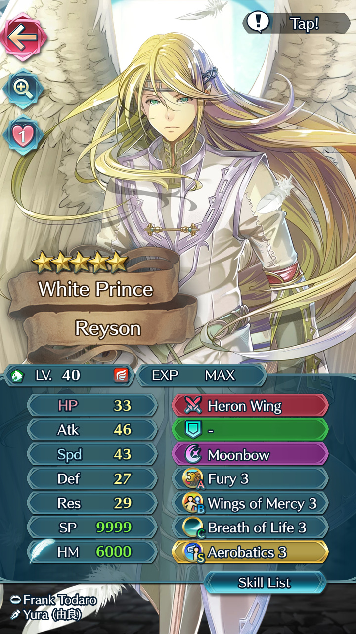 Builds for Reyson? - FEH Discussion - GamePress Community