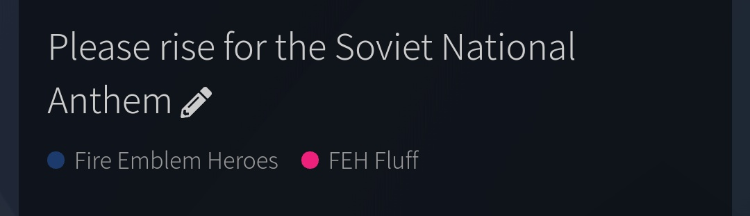 Please rise for the Soviet National Anthem - FEH Fluff