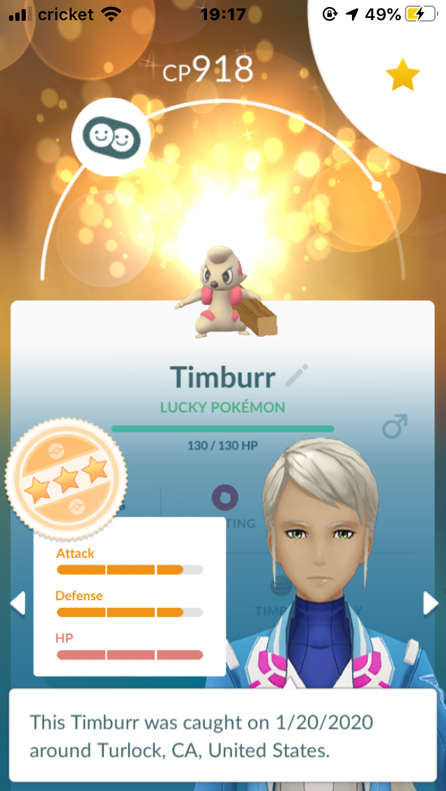 Lucky Timbur Pokemon Go Gamepress Community Timburr can be found in the wild at route 10. lucky timbur pokemon go gamepress