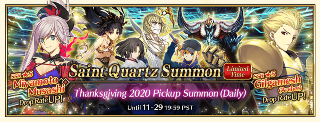 Finally 2020 Thanksgiving Banner Roll Thread Fgo Discussion Gamepress Community